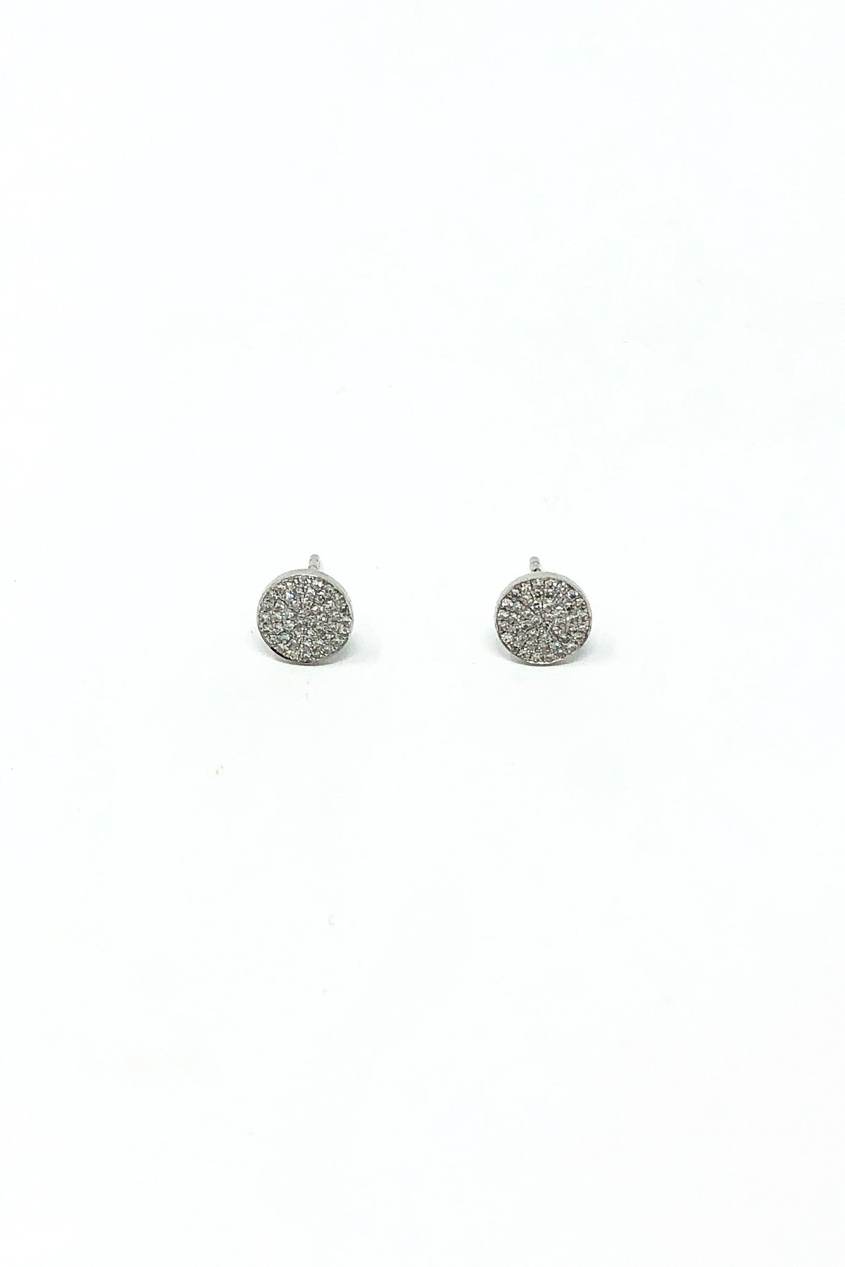 EF Collection -  14K White Gold Diamond Disc Stud (Large)