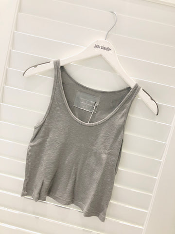 Christina Lehr - Rib Tank - Light Grey