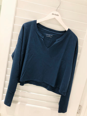 Christina Lehr - Dean Crop L/S - Navy
