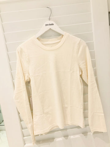 Christina Lehr - Brush L/S Tee - Milk