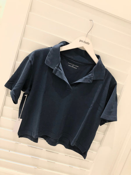 Christina Lehr - Birdie Crop Polo - Navy