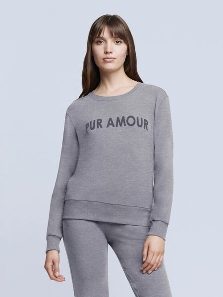 L'Agence - Heidi Sweatshirt - Heather Grey