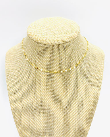 Boho Beads Gold Choker Necklace