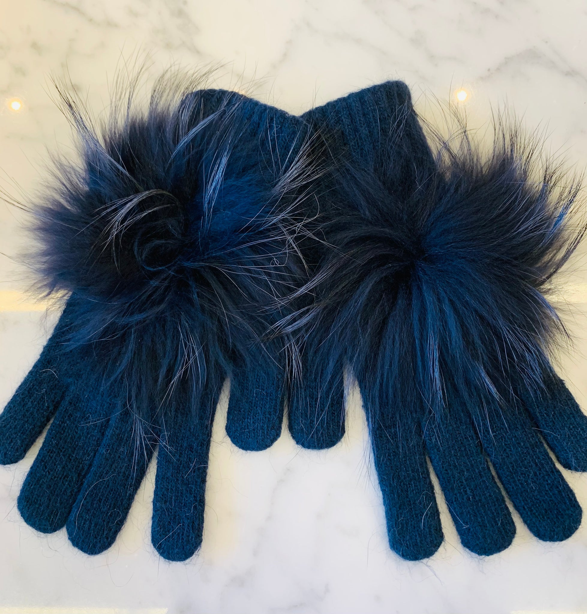 Linda Richards Pom Gloves - Navy