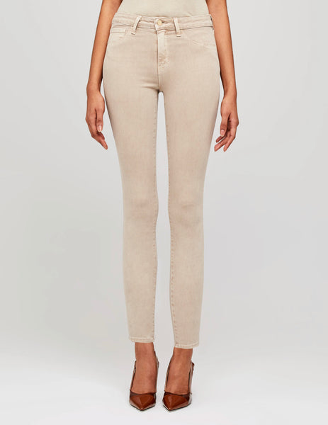 "L'Agence - Marguerite High Rise Skinny 30"" - Biscuit"