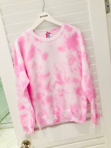 Tie Dye For ♡ - Crew Neck - Light Pink