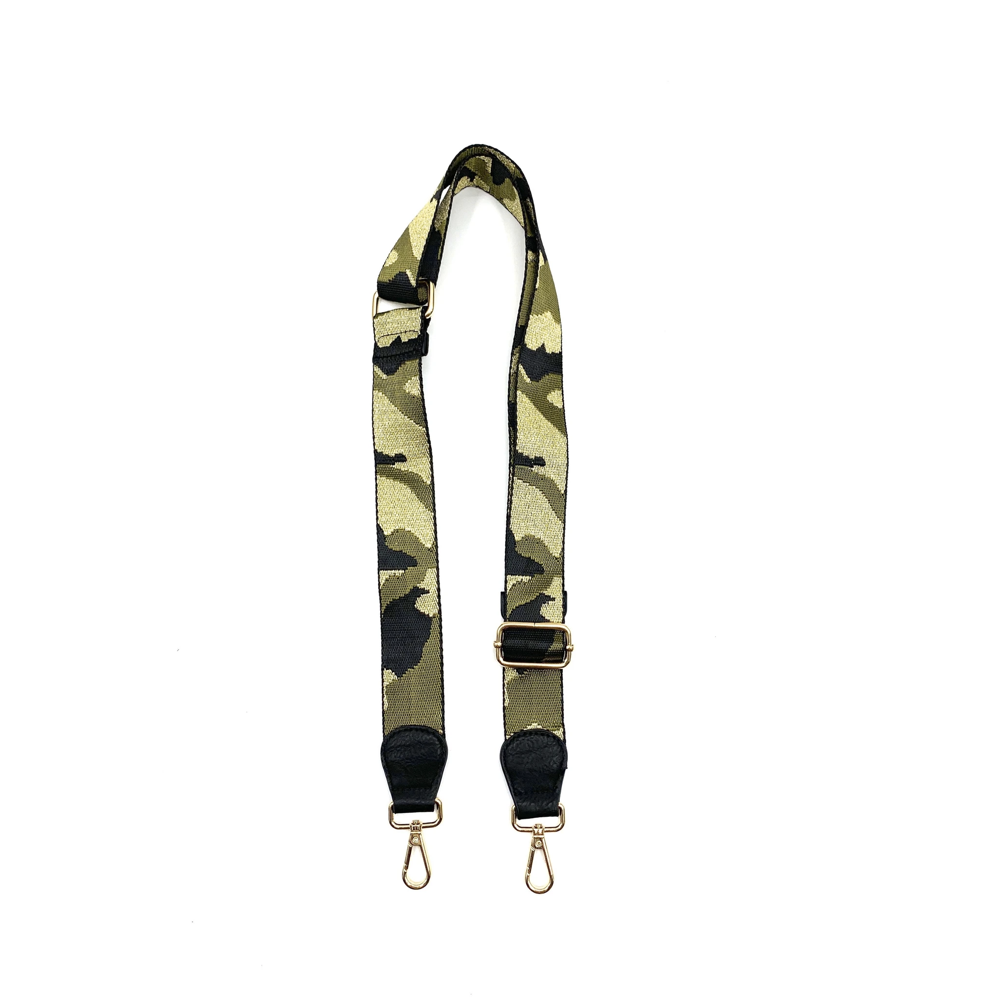 "1.5"" Camo Black/Army/Gold Bag Strap"