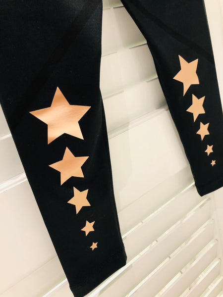 Style Reform - Parker Legging W/ Rose Gold Stars
