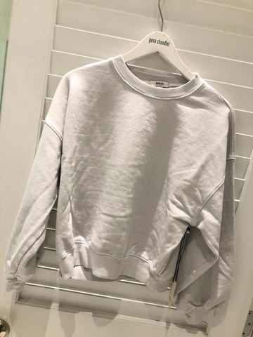 Agolde Balloon Sleeve Sweatshirt - Paper Mache