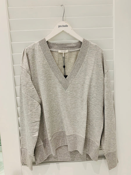 Rag & Bone - The Flora Pullover - Heather Grey