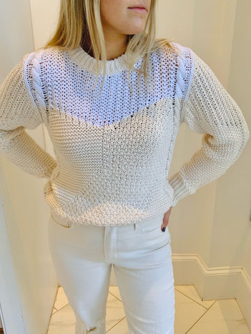 Christina Lehr - Charlie Patch Sweater - Beigem