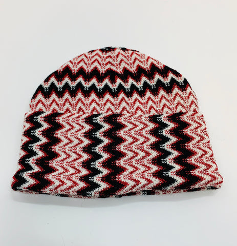 Missoni Knitted Hat - Red