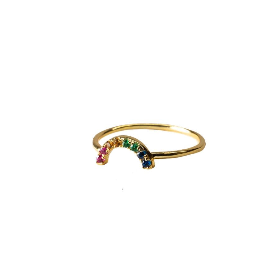 Boho Beads Mini Rainbow Ring