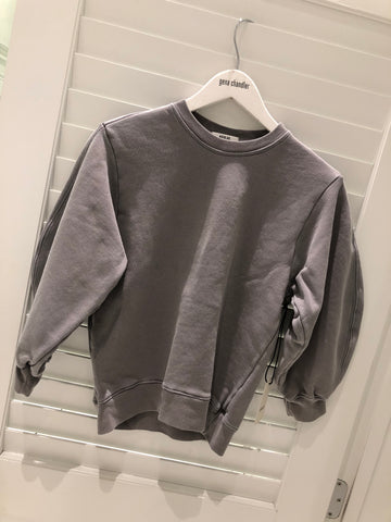 Agolde Thora Sweatshirt - Light Grey Zinc