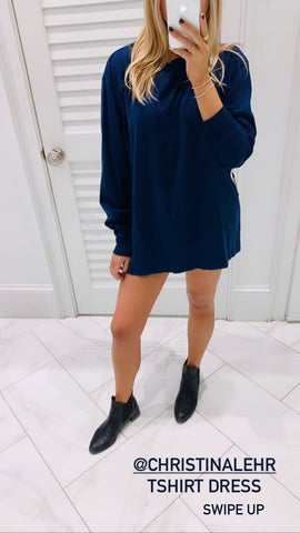 Christina Lehr - Dean L/S Tee Dress - Navy