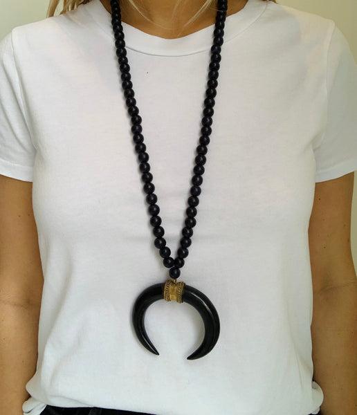 Boho Beads XL Horn Necklace