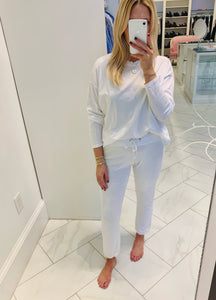 The Perfect White Tee - Freddie Joggers - White
