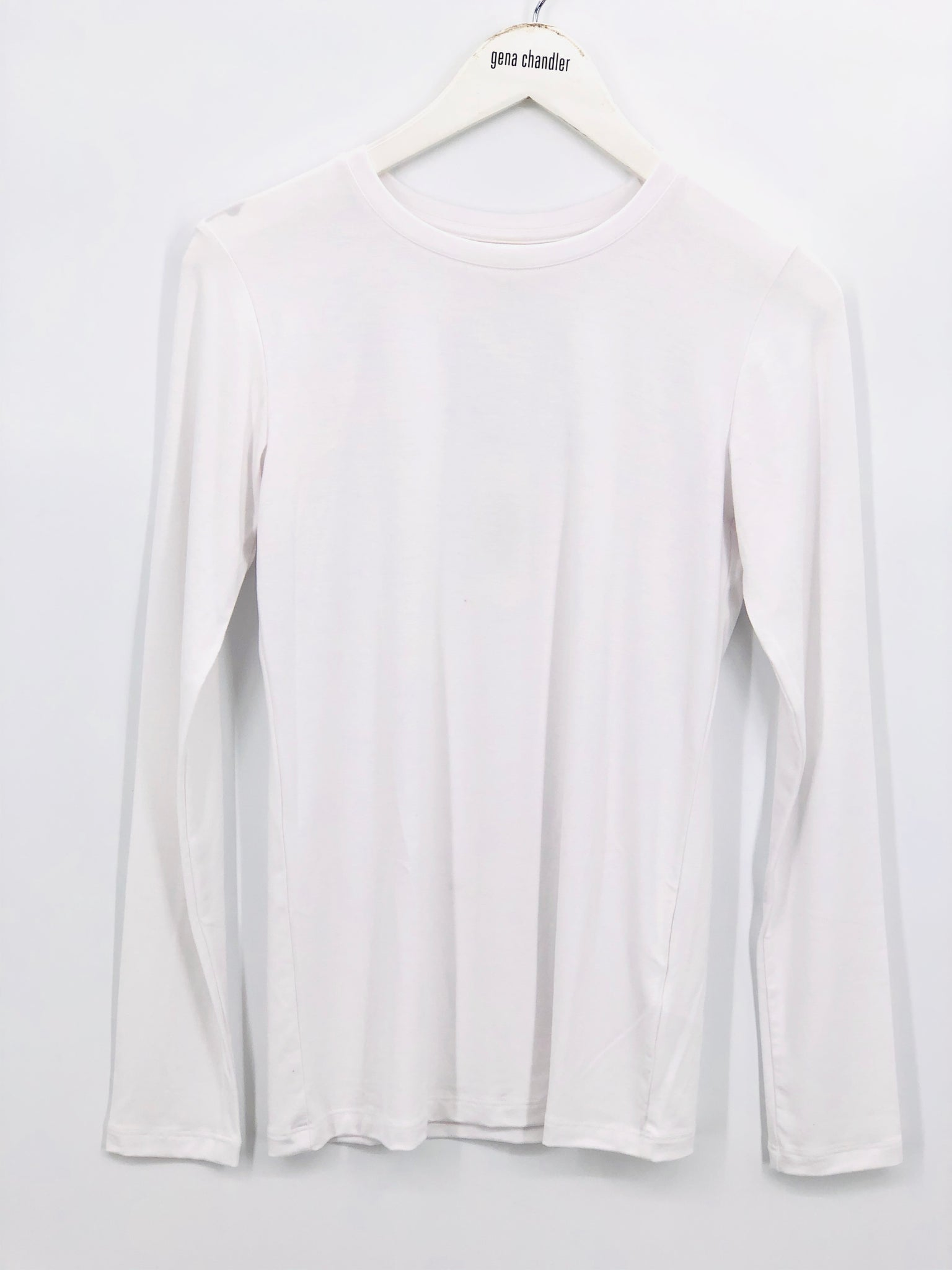 L'Agence Tess Crew Tee L/S - White