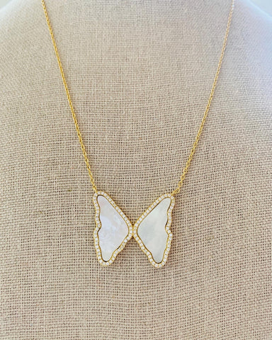Boho Beads Caro Butterfly Necklace