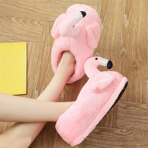 Cosy & Cool Flamingo Slippers