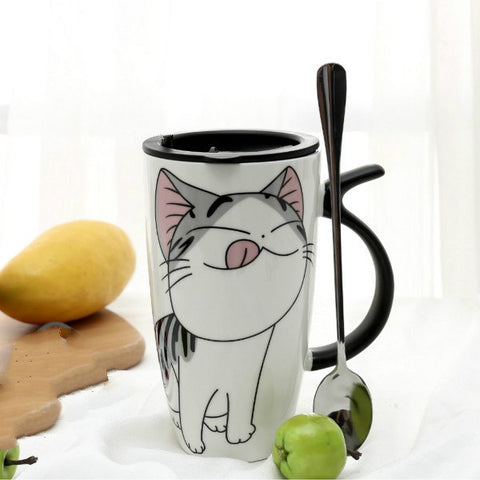 Cute Ceramic Cat Coffee Mug
