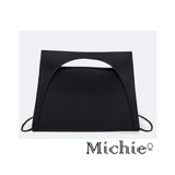 Black Structured Top Handle Bag - Women - Bags - Crossbody United States Free Shipping
