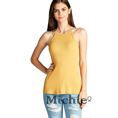 Every Day Halter Top - Yellow / S - United States Free Shipping