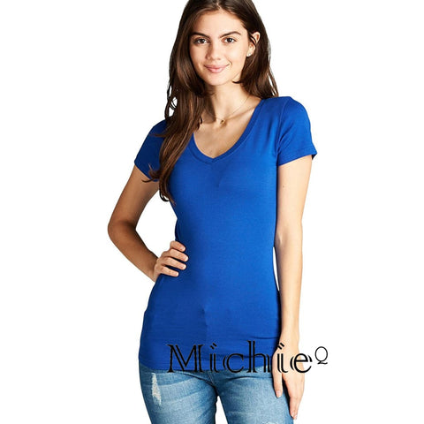 Every Day V Neck - Royalty Blue / S - United States Free Shipping
