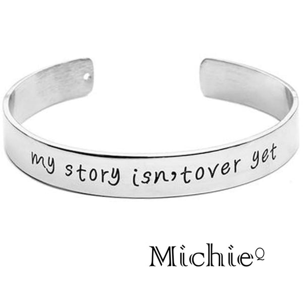 My Story Isnt Over Yet Engraved Bangle - Accessories United States Free Shipping