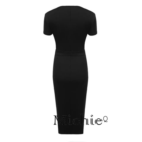 Pencil Bodycon Dresses - Black / L - United States Free Shipping