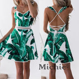 Take Me On Vacation Midi Backless Dress - United States Free Shipping