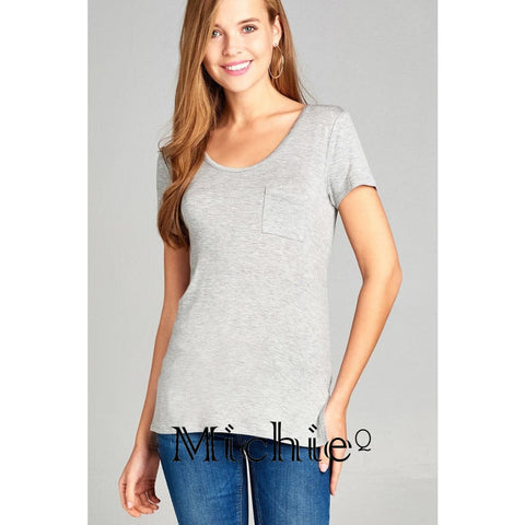 The Casual T With Back Cross Accent - S / Gray - United States Free Shipping