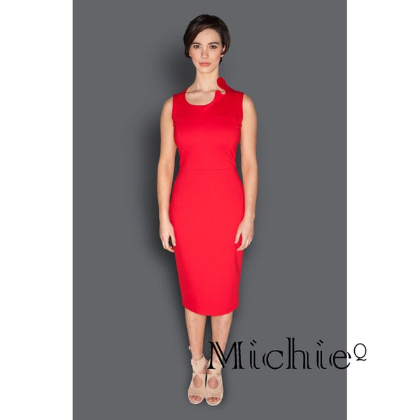 The Fitted Sheath Dress - L (Us 10 -12) / Red - Women - Apparel - Dresses - Day To Night United States Free Shipping