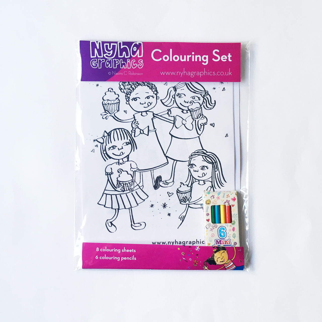 Nyha Graphics Colouring Set - Girls