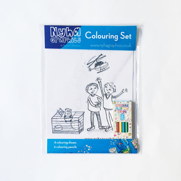 Nyha Graphics Colouring Set - Boys