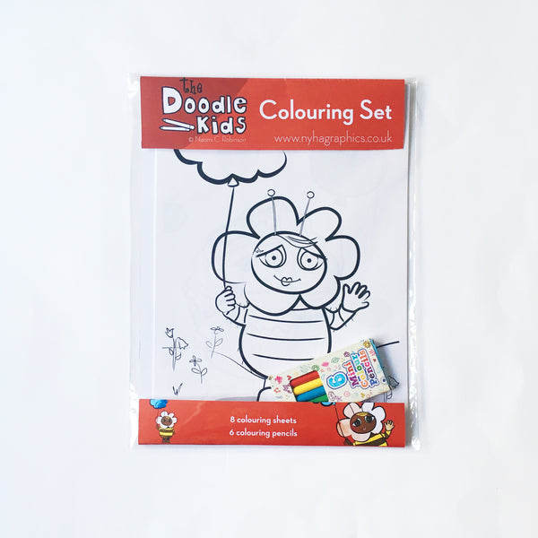 The Doodle Kids Colouring Set