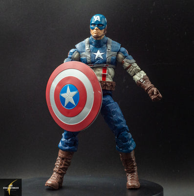 2011 Marvel Legends WW2 First Avenger Movie Series Captain America Action Figure - Loose