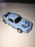 USED Tyco HO Baby Blue w/ Black Firebird Trans Am Slot Car