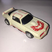 USED Tyco HO White w/ Red Firebird Trans Am Slot Car