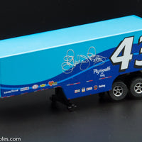 USED Round 2 HO Blue # 43 Semi Trailer Slot Car