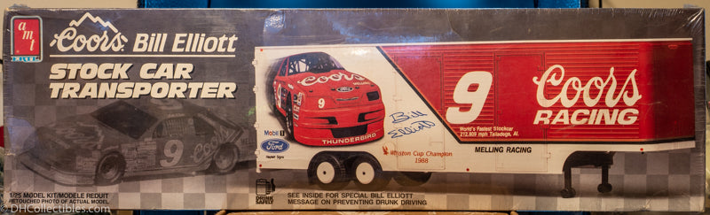 1990 ERTL Coors Bill Elliott Stock Car Transporter 1:25 Model Kit