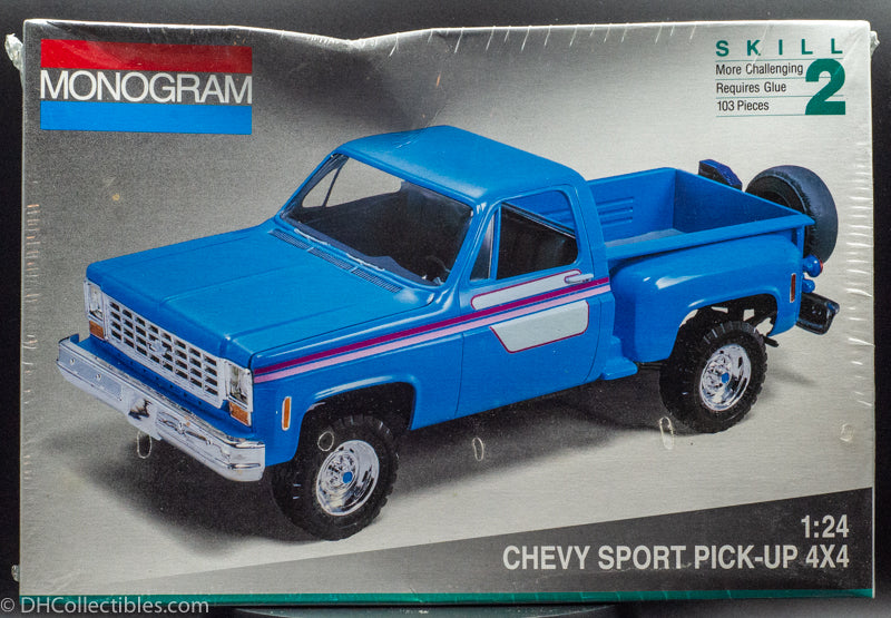 1992 Monogram Chevy Sport Pick-up 4X4 1:24 Model Kit New