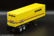 USED Aurora HO Yellow Ryder Semi Trailer Slot Car