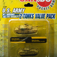 2005 Dragon Models Can.do Pocket Army 2-Tanks Iraq Set