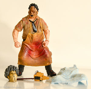 2007 Mezco Cinema Of Fear Series 1 Texas Chainsaw Massacre Leatherface Action Figure - Loose