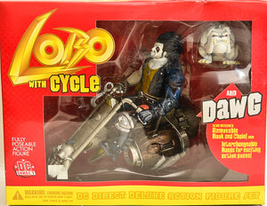 2001 DC Direct Lobo with Cycle and Dawg Deluxe Action Figure Set
