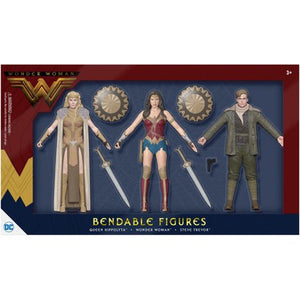 2017 DC Wonder Woman Three Figure Set - Bendable Figures