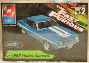 AMT ERTL The Fast and the Furious 1969 Yenko Camaro Plastic Model Kit 1:25 Scale