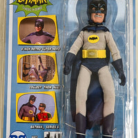 "2017 Figures Toy Co Batman Classic TV Series 6 Alfred Pennyworth Disguised as Batman 8"" Action Figure"