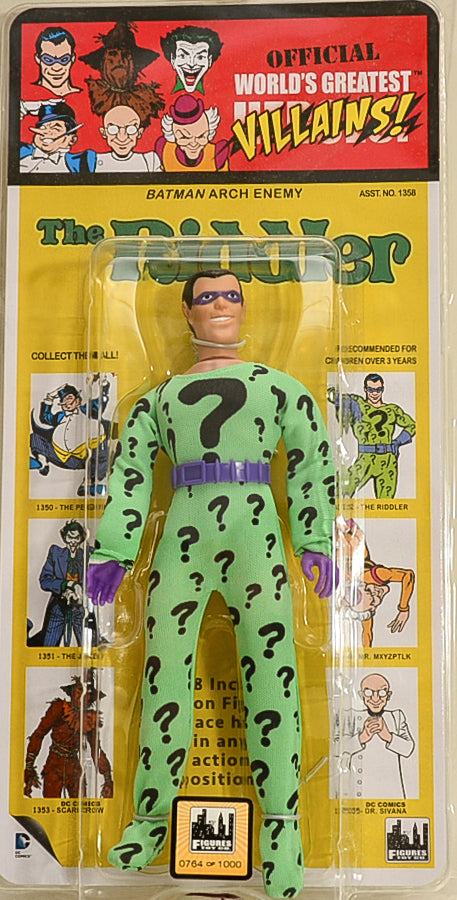 "2015 DC Comics Kresge Style Series 1 The Riddler 8"" Action Figure Limited Edition 0764 of 1000"